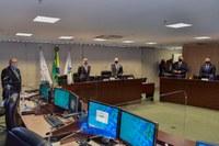 Primeira sessão presidida pelo ministro Humberto Martins, no dia 28 de setembro de 2020.