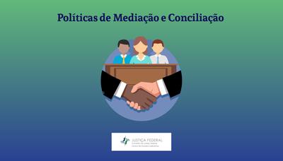 Banner do curso Políticas de mediação e Conciliação