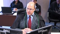 Juiz federal Wilson José Witzel, em sua última sessão na TNU. (Foto: Edson Queiroz/CJF)