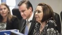Ministra Laurita Vaz preside sessão do CJF (Foto: Sérgio Amaral/STJ)