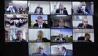 Sessão do Conselho, realizada com suporte de vídeo